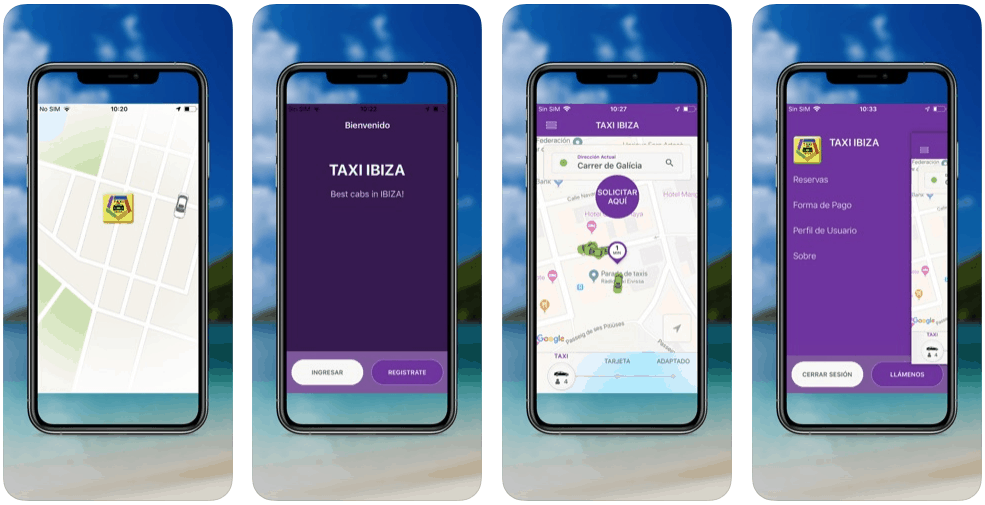 Ibiza Taxi App Screenshots