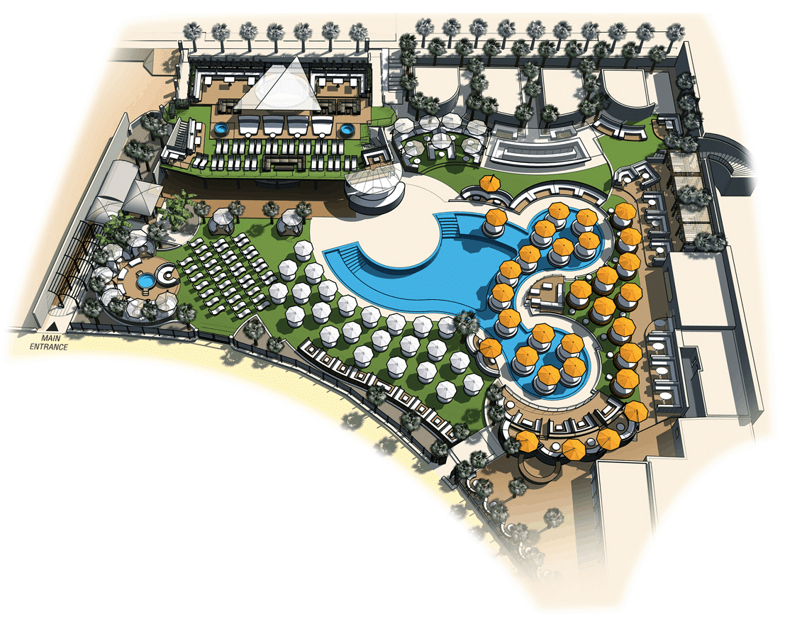 O Beach Ibiza layout
