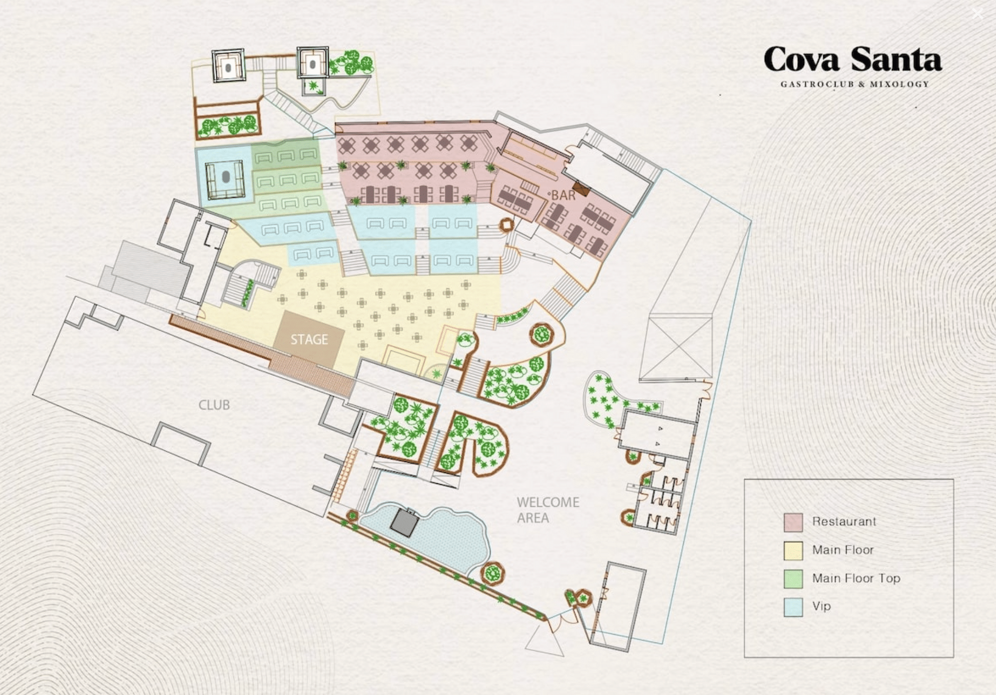 Cova Santa 2021 Seating Plan